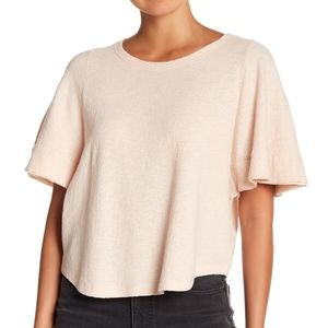 Madewell Texture & Thread Flutter-Sleeve Top Small